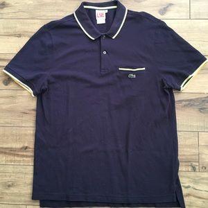 Lacoste LIVE Men Blue Polo Shirt sz 7